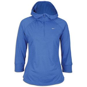 Nike Soft Hand Hoodie   Womens   Running   Clothing   Mega Blue/Pink