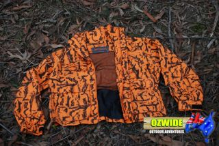 Blaze Orange Camo Hunting Jacket Compound Bow Hunting