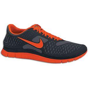 Nike Free Run 4.0   Mens   Running   Shoes   Dark Grey/Team Orange