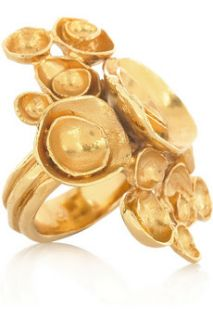 Yves Saint Laurent Arty gold plated flower ring   50% Off