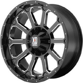 XD XD806 18x9 Black Wheel / Rim 8x180 with a 0mm Offset and a 124.20