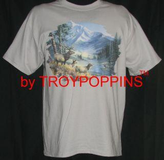 Elk Anthem 2 Hunting Gear Apparel Mountain Hiking T Shirt Graphic