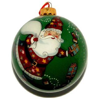 Hand Painted Glass Ornament, Santa Claus CO 125