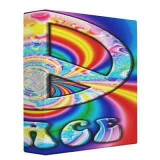 Go to school in style with this peace sign binder