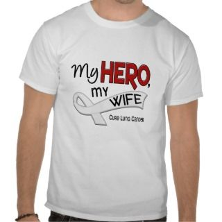 Lung Cancer MY HERO MY WIFE 42 T Shirt