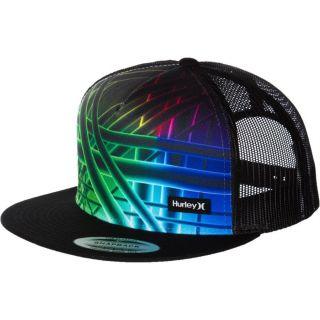 Hurley Straps Black Multi Trucker Hat Cap Snapback Adjustable One Size