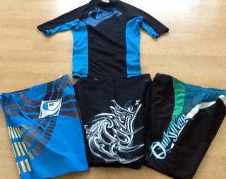 Quiksilver Hurley Swim Board Shorts Rashguard Size 6 EUC