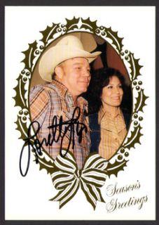 Original Vintage Loretta Lynn 1982 Christmas Card Signed Autograph