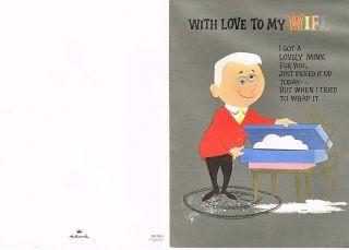 Birthday Greeting Card Wife MINK Google Eyed Husband Fur Hallmark