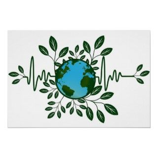 Go Green Eco Earth Friendly Planet Illustration Po Poster