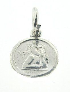 925 Authentic Sterling Silver Charm Thingking Angel