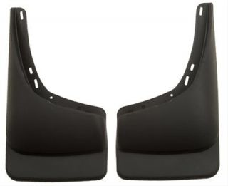 Husky Custom Molded Mud Flaps 57241 Black Rear Without OE Flares or