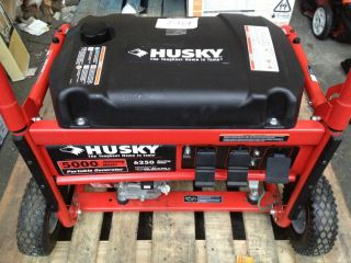 Husky HU5000BP 6250 Watt Gasoline Powered Portable Generator