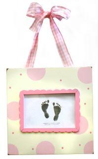 Handprint Footprint Frame Baby Room Wall Decor Keepsake