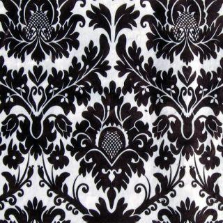 Simply Plush Minky Black White Damask Blanket Throw