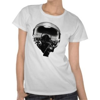 Fighter pilot helmet with clouds t shirts