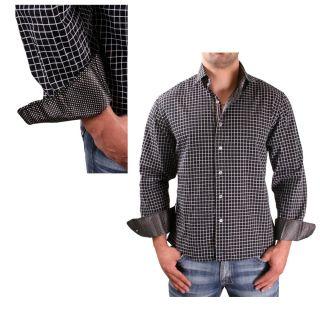 English Laundry Scott Weiland Huxley Mens Woven Dress Shirt Checkered