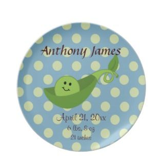 Baby Boys First Birthday Cake Plates