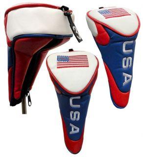 American Flag USA Stars Stripes Hybrid Golf Club Head Cover