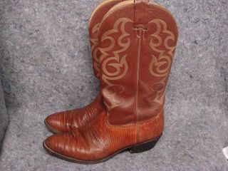 Western Cowboy Boots Iguanna Reptile Real Hydes 9 5 Naconna