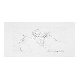 In Gods Hands In Loving memory Of Khaiden Sketch Print