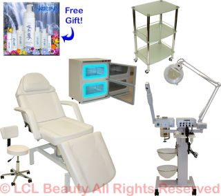 in 1 Facial Machine Hydraulic Massage Table Chair Towel Warmer Salon