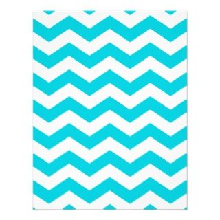 Aqua and White Zig Zag Pattern Business Card Templates
