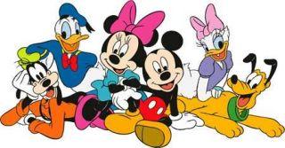 Walt Disney Gang MICKEY MINNIE DONALD PLUTO GOOFY Window Cling Sticker