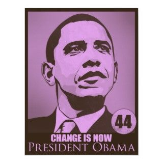 President Obama, Change is Now Pink Poster