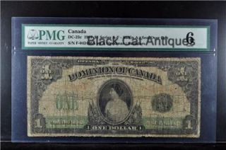 1917 Canada $1 00 One Dollar Bill DC 23c Good 6 PMG