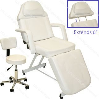 Hydraulic Facial Massage Table Bed Chair Tattoo Beauty Barber Salon