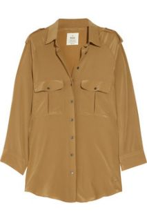 MiH Jeans Safari washed silk shirt