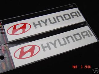 Hyundai Sticker Decal Emblem Badge Tiburon Sonata Excel