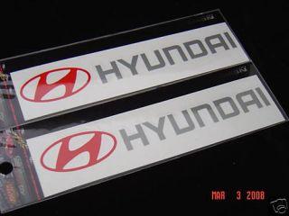Hyundai Sticker Decal Emblem Badge Tiburon Sonata Excel