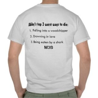 Value Abbys top 3 worst ways to die NCIS T shirts