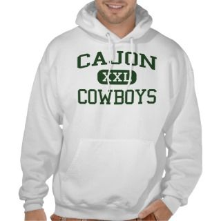 Cajon   Cowboys   High   San Bernardino California Hooded Sweatshirts
