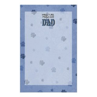 Miniature Pinscher DAD Customized Stationery