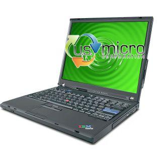 IBM ThinkPad T60 Core Duo 1 83GHz 4096MB 320GB DVD Wi Fi Windows 7