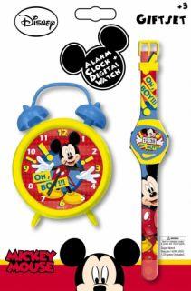 Mouse Oh Boy Alarm Clock Wrist Watch Set Brand New Gift
