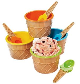 Colorful Ice Cream Bowls with Spoons Christmas Gifts for Her for Mom