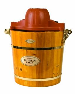 Electrics ICMW 400 4 Quart Wooden Bucket Electric Ice Cream Maker