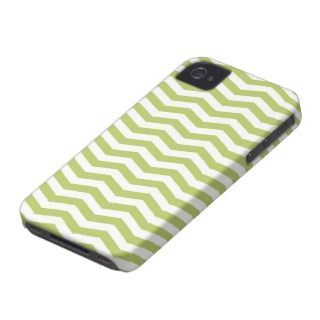 modern chevron green and white zig zag pattern iPhone 4 Case Mate case