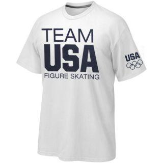 US Figure Skating Basic T Shirt White