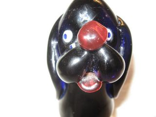 Vintage Arte Murano Icet Art Glass Dog Puppy Nice