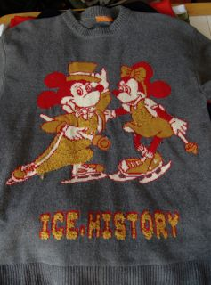 Vintage Iceberg History Sweater XL Disney Mickey Minnie Mouse Italy
