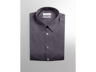 Calvin Klein Mens Slim Fit Stretch Solid Dress Shirt