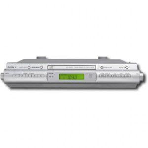 Sony Under Cabinet CD R RW Clock Radio ICF CDK50 Used Condition Radio