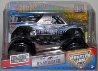 Hot Wheels Monster Jam Ice Monster New 2012 Release 1 24 Scale