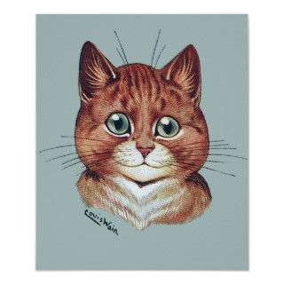 Vintage Louis Wain Monacle Cat Poster Print