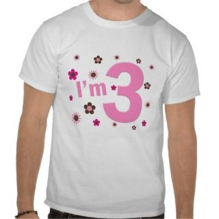 Pink & Brown Flowers T Shirt